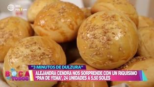 "Tres minutos de dulzura: aprenda a preparar ""Pan de Yema"""