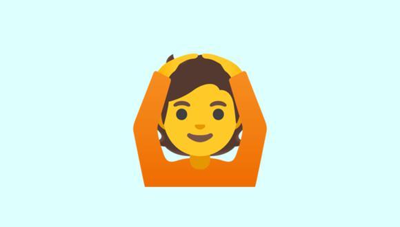 Conoce qué es lo que significa el emoji de la persona con manos en la cabeza en WhatsApp. (Foto: Emojipedia)