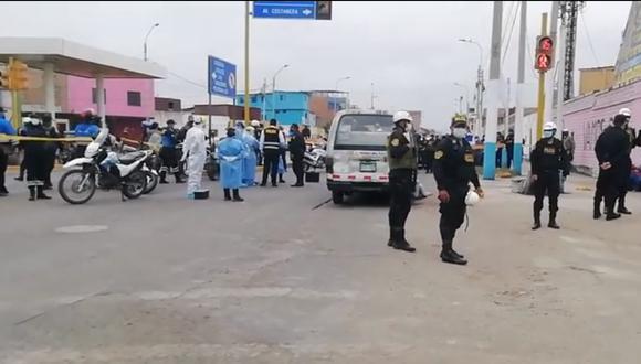 El crimen fue perpetrado en el cruce de las avenidas José Gálvez con Alfonso Ugarte, en el Callao. (Foto: captura TV/Referencial)