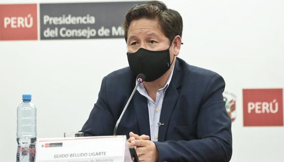 Guido Bellido respondió a la prensa el miércoles tras reunión del Consejo de Ministros. Volvió a deslindar de grupos extremistas y desconoció publicaciones que realizó en Facebook años atrás.  (Foto: PCM)