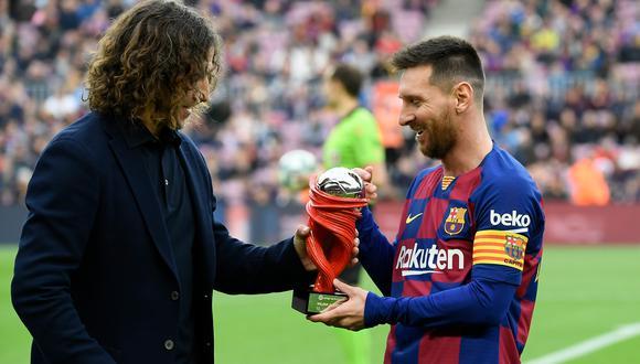 """Puyol bromeó sobre el hecho de """"quizás a Iker le hubiera gustado más un Barcelona sin Messi"""". (Foto: AFP)"""