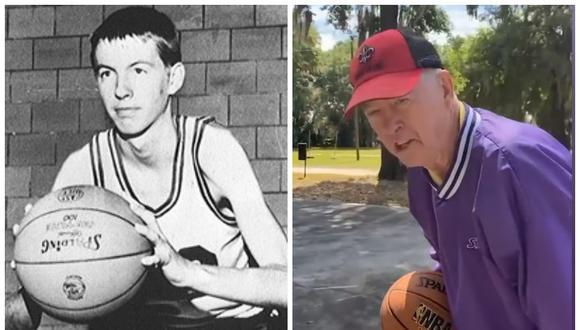 Jerry Flake, de 73 años, solía jugar al baloncesto en el equipo universitario Louisiana Athletics. (Foto: Captura YouTube | Ragin Cajuns)