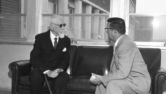 La mañana del 6 de octubre de 1960, el veterano marino dio una entrevista exclusiva para el Comercio en el Centro Médico Naval. (Foto: Archivo Histórico El Comercio)