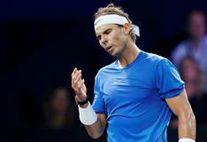 Rafael Nadal pierde un partido de tenis familiar