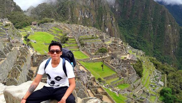Inti era un amante del turismo de aventura. Aquí en un viaje de estudios a Cusco. (Foto: Facebook Inti Sotelo)
