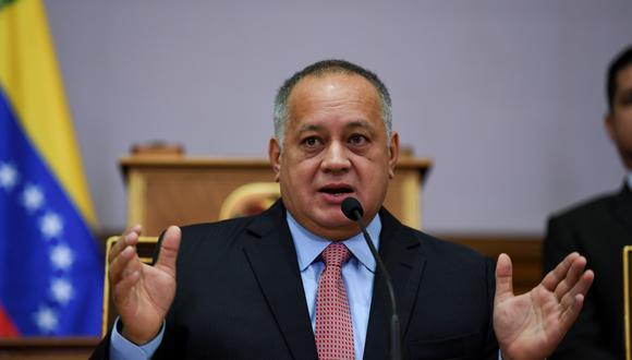 Diosdado Cabello, número 2 del chavismo. (Photo by Yuri CORTEZ / AFP).