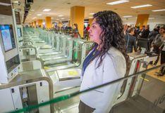 Puertas electrónicas del Jorge Chávez registraron más de 1,5 millones de movimientos migratorios