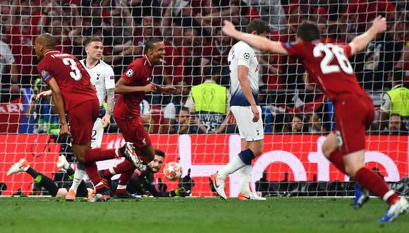 Liverpool vs. Tottenham: Origi marcó el 2-0 en Champions League con este remate de zurda   VIDEO. (Foto: AFP)