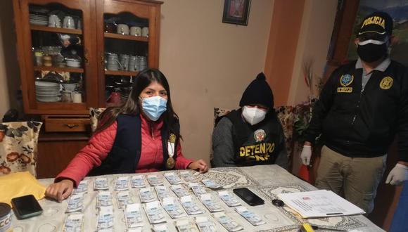 Durante la diligencia, se encontró una maleta con cerca de medio millón de soles. (Foto: Policía Nacional)