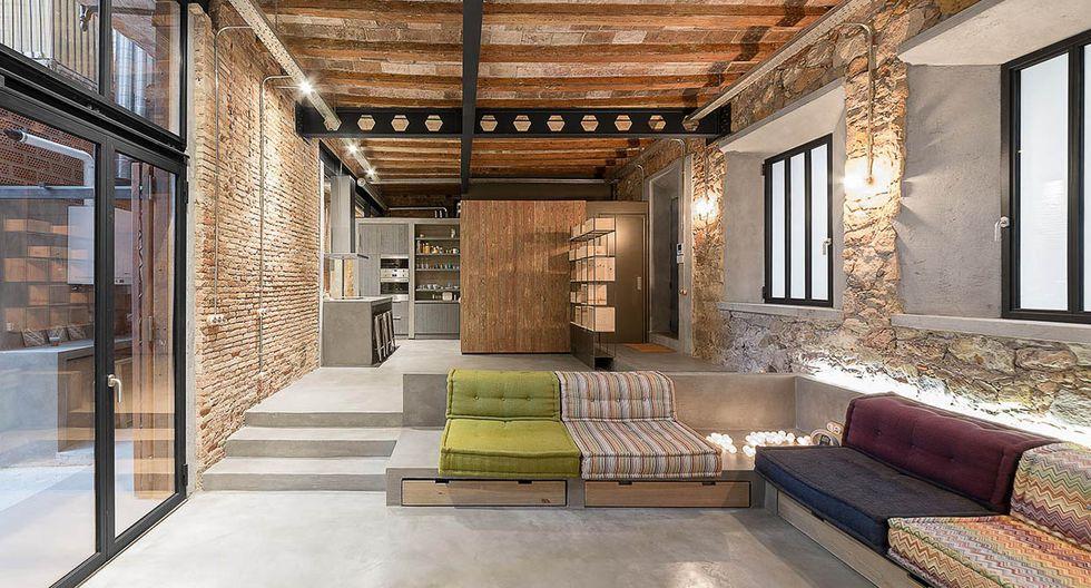 El estilo industrial primó en la renovación de un antiguo taller ubicado en el barrio de Poble Sec, en Barcelona. (Foto: David Benito Cortázar/ ffwd.es)