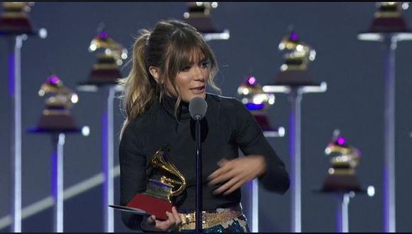 """Kany García le dedicó su Premio Grammy Latinos a Gian Marco, con quien competía para """"Mejor álbum cantautor"""". (Imagen: Facebook Latin GRAMMY)"""