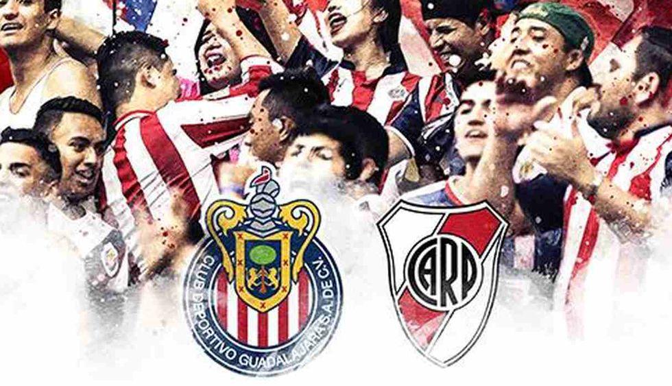 River Plate vs. Chivas se miden en un partido amistoso. (Foto: @Chivas)