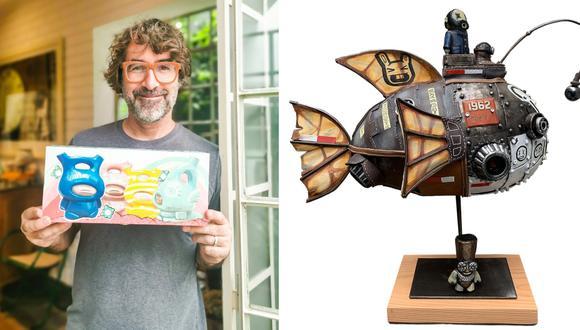 Rafael Lanfranco Gallofré  es artista y escultor, socio y fundador del estudio de ilustración 4D2 Studio. Su más reciente colaboración es una pieza de arte para una reconocida empresa de lentes de sol. (Fotos: Sunglass Hut / Archivo Rafael Lanfranco)