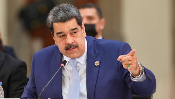 El presidente de Venezuela, Nicolás Maduro, hablando durante la Celac. REUTERS