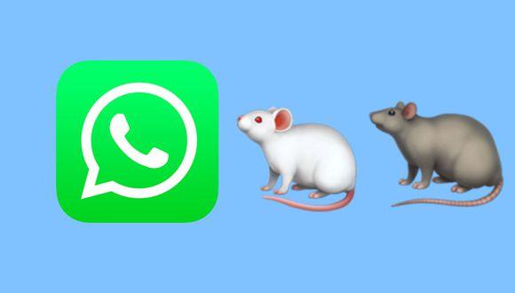 ¿Te has percatado de estos dos roedores de WhatsApp? Aquí te explicamos qué significa cada uno de ellos y por qué existen dos colores.