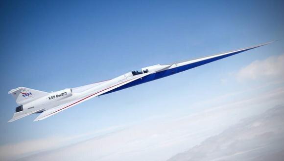 Foto referencial. El X-59 QueSST de la NASA está en construcción en Lockheed Martin Skunk Works en Palmdale, California. (NASA / Europa Press)