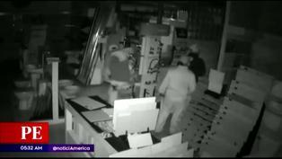 Ladrones roban más de 10 mil soles de una tienda de mayólicas en San Martín de Porres