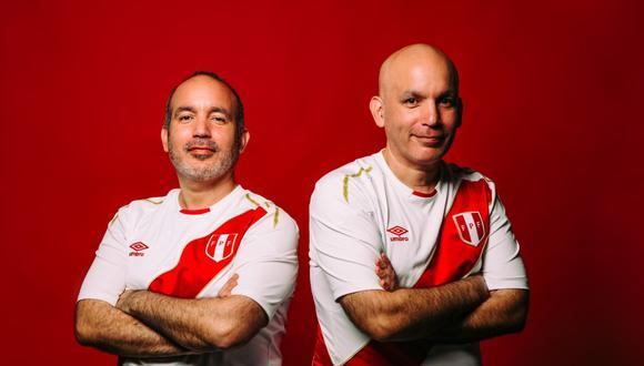 (De izquierda a derecha) Luis y Rafael De La Lama, compositores de las canciones de la Selección Peruana de Fútbol. FOTO: Inés Menacho.