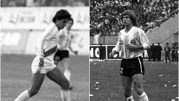 Franco Navarro y Julián Camino se reencontraron en varios partidos por el fútbol argentino en 1986. (Fotos: Archivo Histórico de El Comercio).