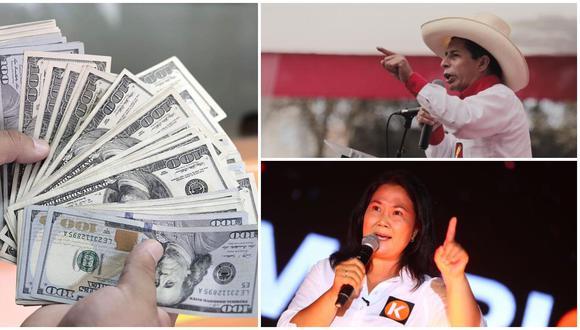 La cotización se conoce luego de las actualizaciones de encuestas de intención de voto para la presidencia del Perú, donde el candidato Pedro Castillo (Perú Libre) amplía su ventaja frente a Keiko Fujimori (Fuerza Popular) a dos semanas de las votaciones. (Foto: Archivo)