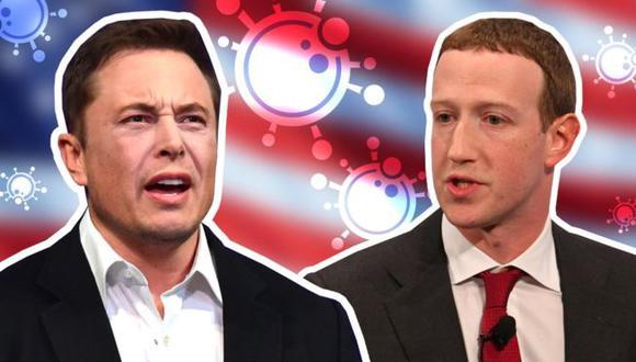 Elon Musk y Mark Zuckerberg tienen opiniones opuestas de cara a las medidas adoptadas para hacerle frente a la pandemia del coronavirus. (AFP/REUTERS)