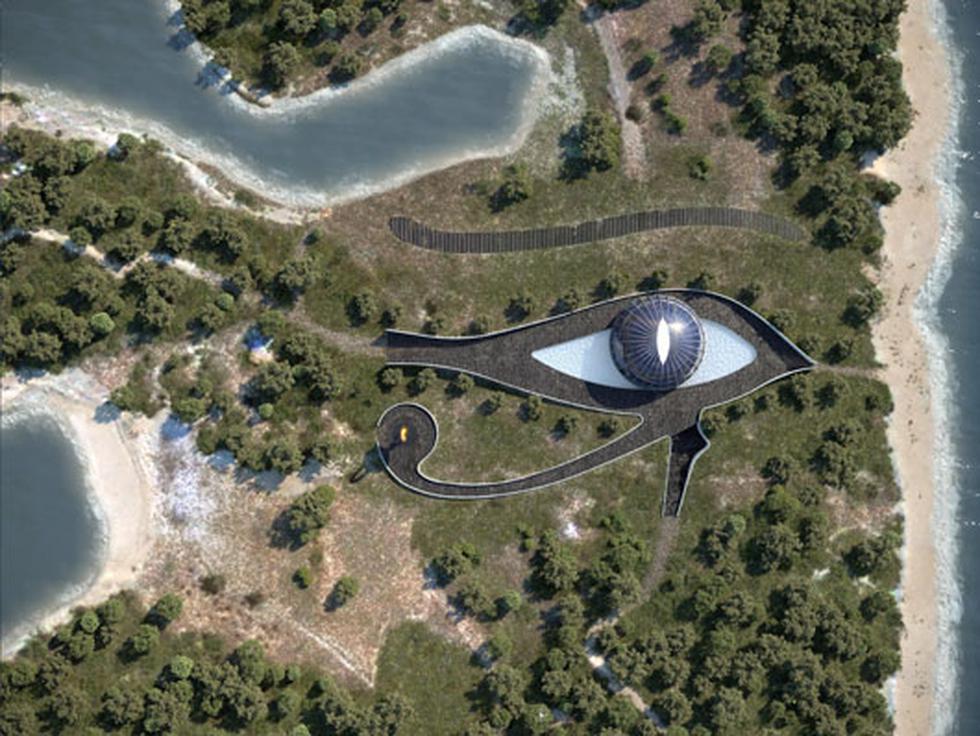 Vista aérea de la casa de la modelo. (Foto: Instagram | Luis de Garrido)