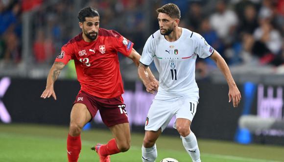 Italia igualó 0-0 con Suiza por la quinta jornada del grupo C de las Eliminatorias Qatar 2022 en el estadio St. Jakob-Park.