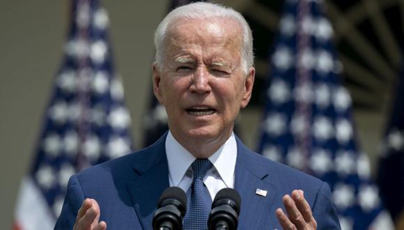 El presidente de EE.UU., Joe Biden, durante un evento que marca el 31 aniversario de la Ley de Estadounidenses con Discapacidades (ADA) en el Rose Garden de la Casa Blanca en Washington. (Foto: Stefani Reynolds / Bloomberg/Archivo).