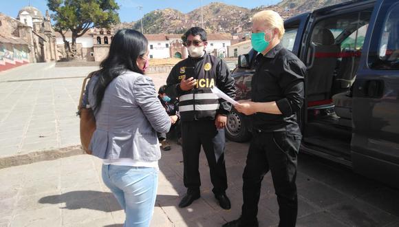 La pareja fue intervenida cuando estaban trasladando a otras dos personas hasta Quillabamba. (Foto: PNP)