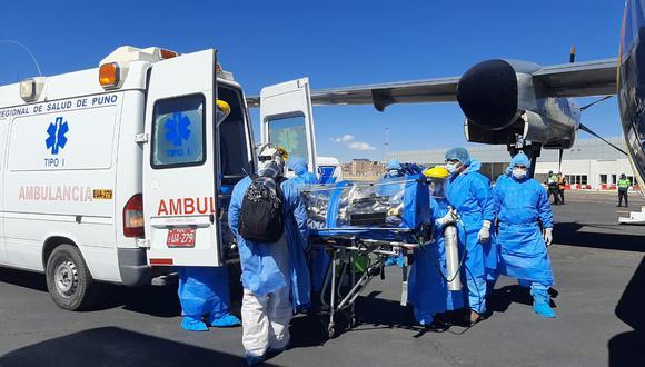 El médico fue trasladado hasta el hospital Edgardo Rebagliati. (Fotos: Diresa Puno)
