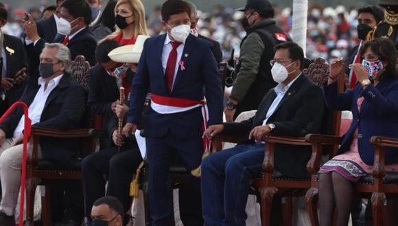 Guido Bellido, congresista de Perú Libre, fue nombrado como primer ministro de Pedro Castillo (Foto: Alessandro Currarino / @photo.gec)
