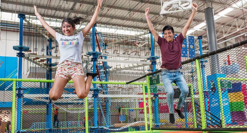 Zona Impulso. Conformada por trampolines gigantes. Aquí podrás dar los saltos más impresionantes. Se permite el ingreso a niños a partir 1.20 m de estatura.