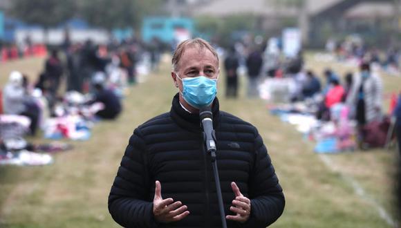 Jorge Muñoz anuncia reactivación del plan Pico y placa. (Foto: Ángela Ponce/GEC)