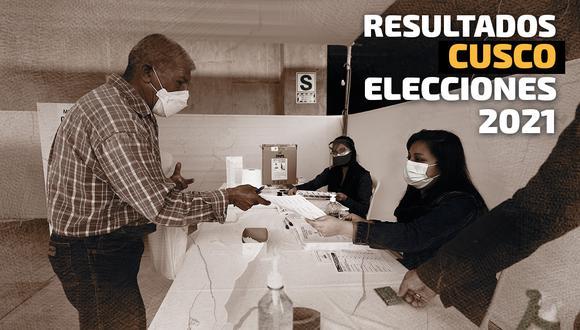 Resultados de las Elecciones 2021 en la región Cusco, según el conteo de la ONPE | Foto: Diseño El Comercio