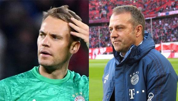 El arquero Manuel Neuer y el técnico Hans-Dieter Flick  opinaron sobre el encuentro de este jueves. (Foto: Composición GEC)