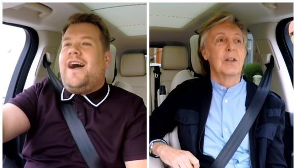 James Corden con Paul McCartney en el Carpool Karaoke. (Foto: The Late Late Show)