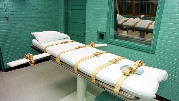 """Foto del 28 de febrero del 2000 que muestra la """"habitación de la muerte"""" en la Unidad de Huntsville del Departamento de Justicia Criminal de Texas en Huntsville, Texas. Foto: AFP"""