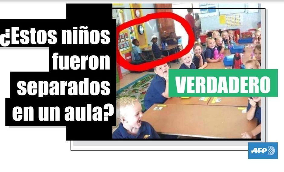 Sí, estos niños negros fueron separados de los blancos en un salón de clases en Sudáfrica. (AFP).