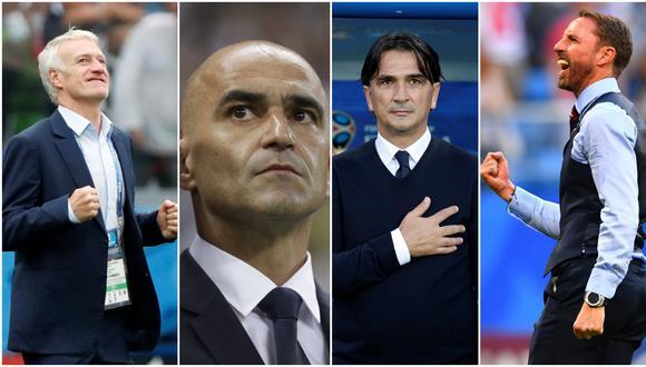 Francia, Bélgica, Inglaterra y Croacia disputarán las semifinales de la Copa del Mundo 2018. Sus entrenadores han consolidado proyectos y han sabido aprovechar a sus estrellas. (Foto: AP)