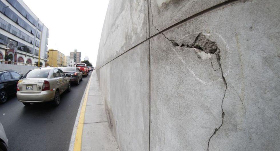 By pass de 28 de julio: fotos de grietas y fisuras del túnel - 1