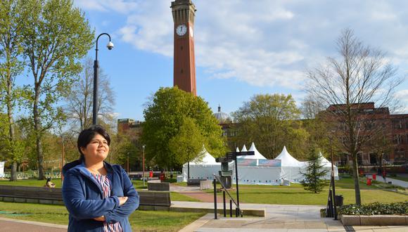 La ingeniera Andrea Altamirano sigue la maestría de Ingeniería e Integración de Sistemas Ferroviarios en la Universidad de Birmingham, a casi dos horas -en tren- de Londres, en Reino Unido. (Foto: Archivo personal)