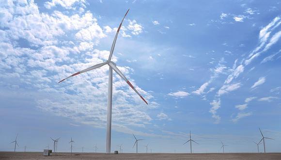 La energía eólica se obtiene del viento, producida por el efecto de las corrientes de aire, y es convertida en electricidad a través de un generador eléctrico. (Foto referencial: Andina)