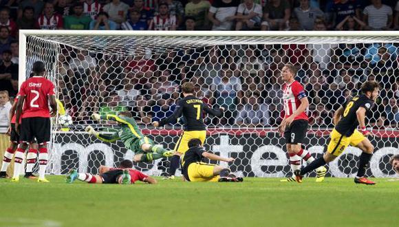 Atlético de Madrid venció 1-0 al PSV por la Champions League