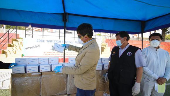 El gobernador, Elmer Cáceres Llica, informó que se invirtió  S/ 1 millón 100 mil en la compra de las pruebas rápidas. (Foto: GRA)