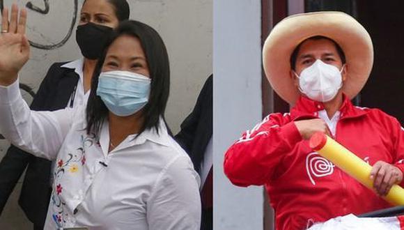 Elecciones 2021: Pedro Castillo y Keiko Fujimori esperan pronunciamientos finales de las instituciones para saber quién ganó la segunda vuelta   Foto: Diseño El Comercio