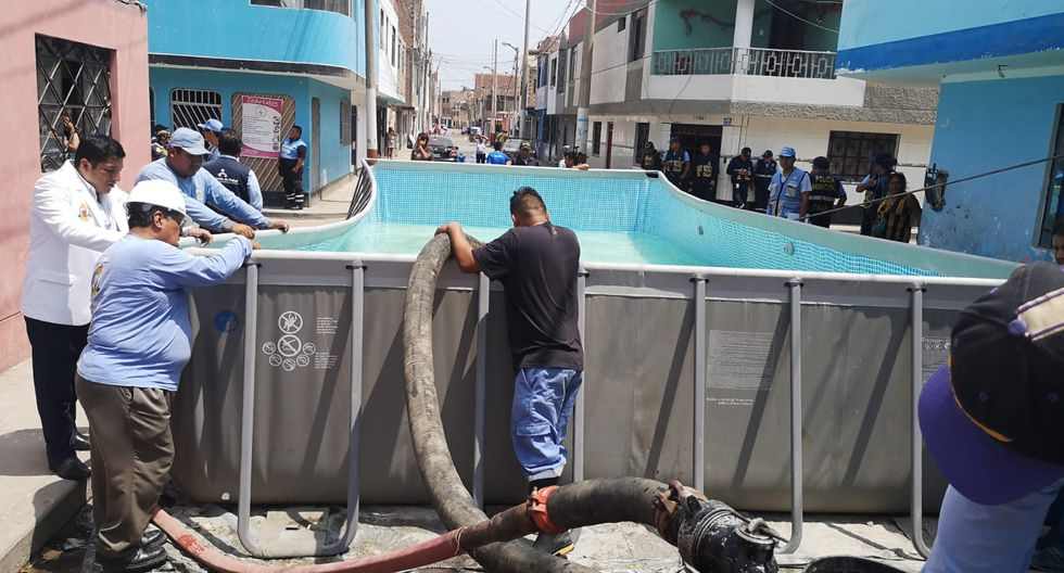 Entre las piscinas portátiles decomisadas en el Callao se halló se halló una estructura de más de cinco metros. (Foto: Difusión)