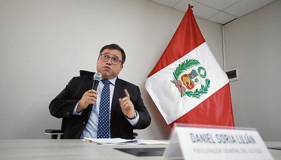 El procurador general, Daniel Soria, reveló que su reemplazo sería la exprocuradora Katherine Ampuero. (Foto: Mario Zapata / GEC)