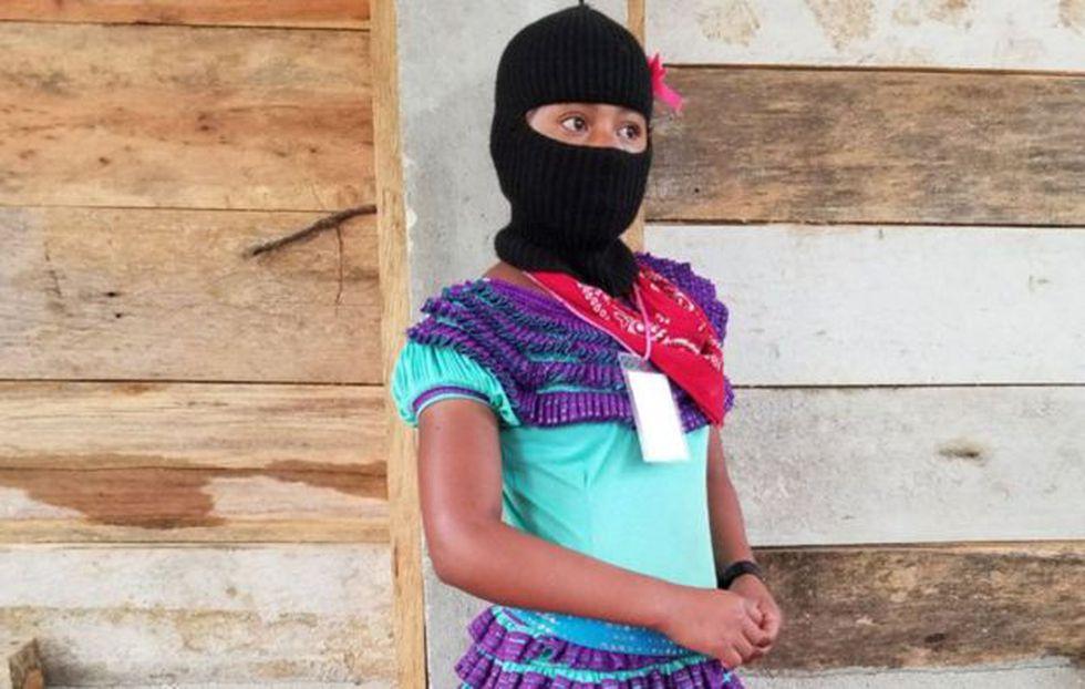 """Esta imagen es de este año en medio de la celebración cultural """"Mujeres que luchan""""."""
