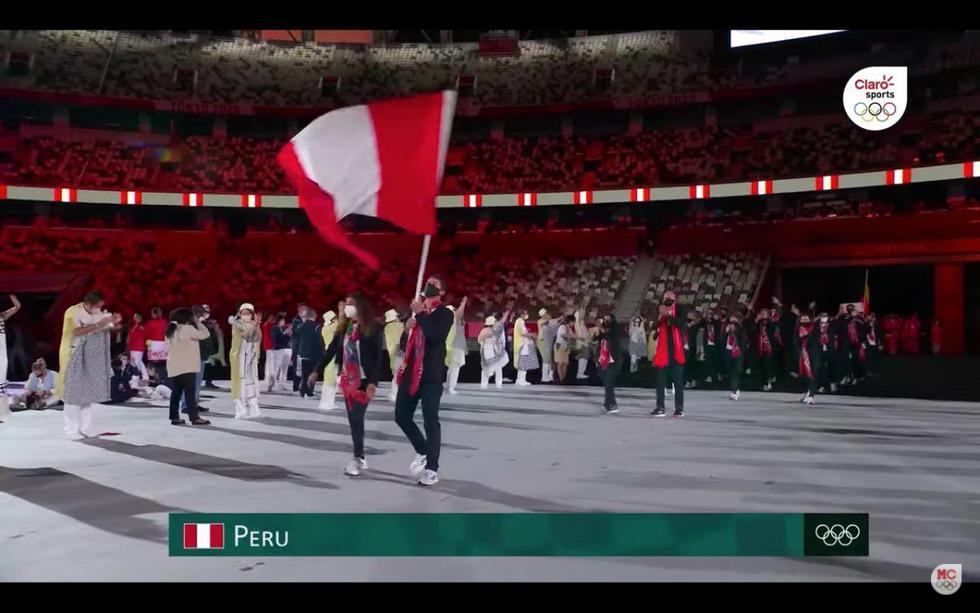Las mejores imágenes del paso de la delegación peruana en la inauguración Tokio 2020. (Captura: Marca Claro)