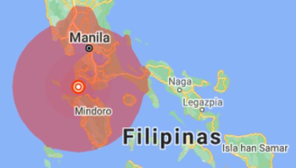La isla de Luzón, la más importante de este archipiélago asiático, fue el epicentros del sismo de 6,7. (Foto: Google Maps).